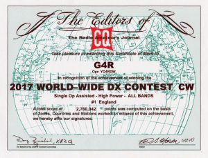Contest certificate 1